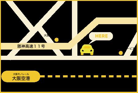 伊丹空港の地図です