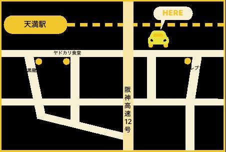 天満駅の地図です