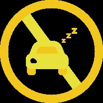 居眠り運転、過労運転に注意
